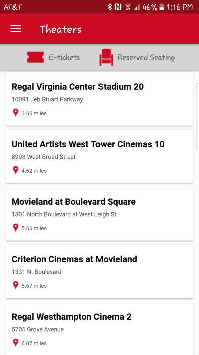 1. Pick the theater